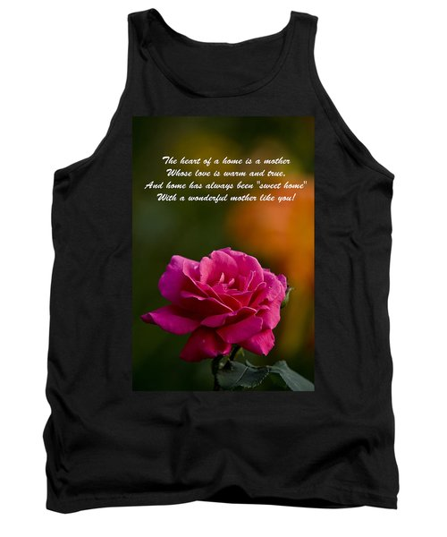 Tank Top featuring the photograph Mother's Day Card 2 by Michael Cummings