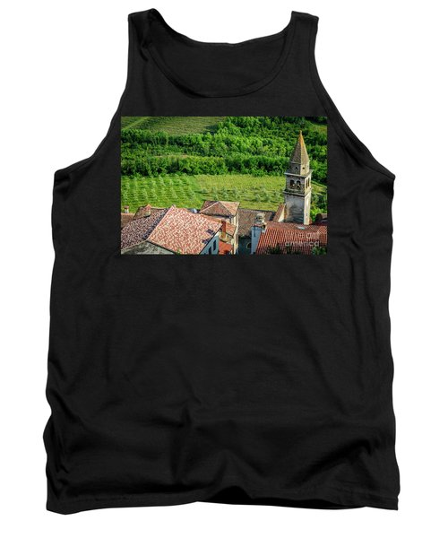 Motovun Istrian Hill Town - A View From The Ramparts, Istria, Croatia Tank Top