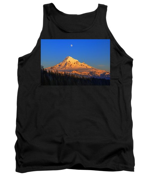 Mount Hood Last Light In Oregon Usa Tank Top