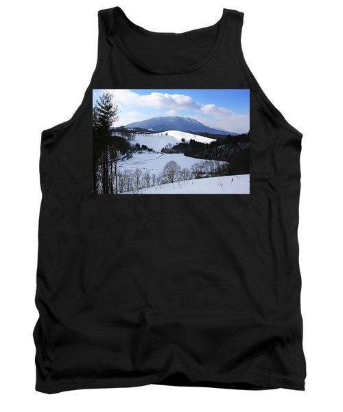 Mount Jefferson Winter Tank Top by Dale R Carlson