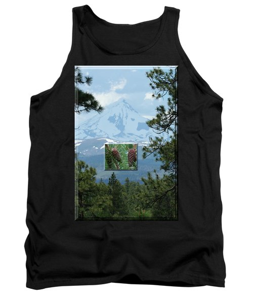 Mount Jefferson With Pines Tank Top