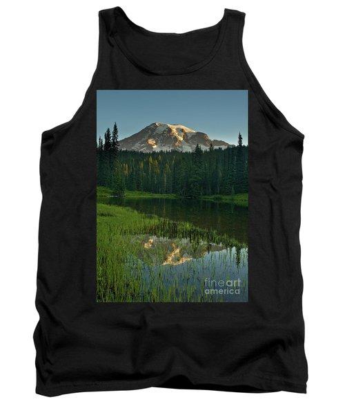 Mount Rainier Dawn Reflection Tank Top