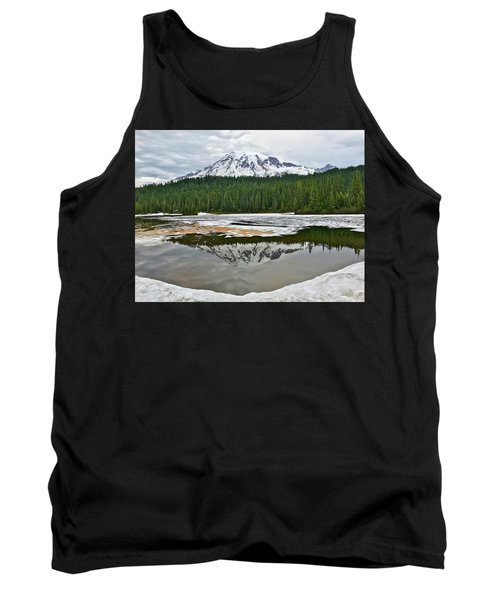 Mount Rainier From Reflection Lakes Tank Top
