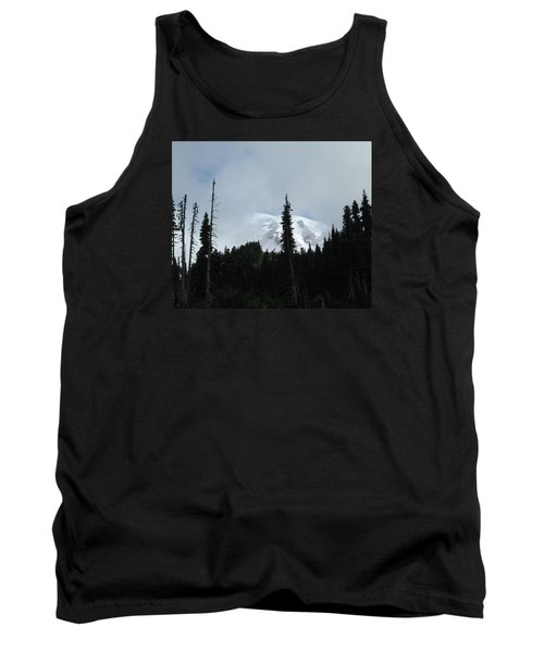 Tank Top featuring the photograph Mount Rainier by Tony Mathews