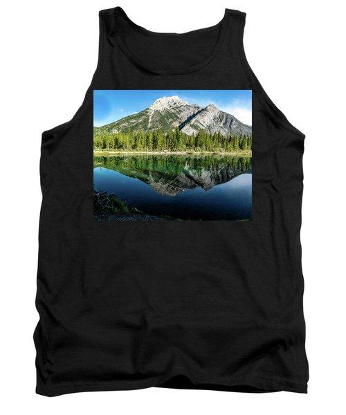 Mount Skogan Reflected In Mount Lorette Ponds, Bow Valley Provin Tank Top