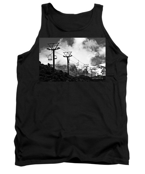 Tank Top featuring the photograph Mountain Cable Road Waiting For Snow by Yurix Sardinelly