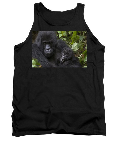 Mountain Gorilla Mother Holding 3 Month Tank Top