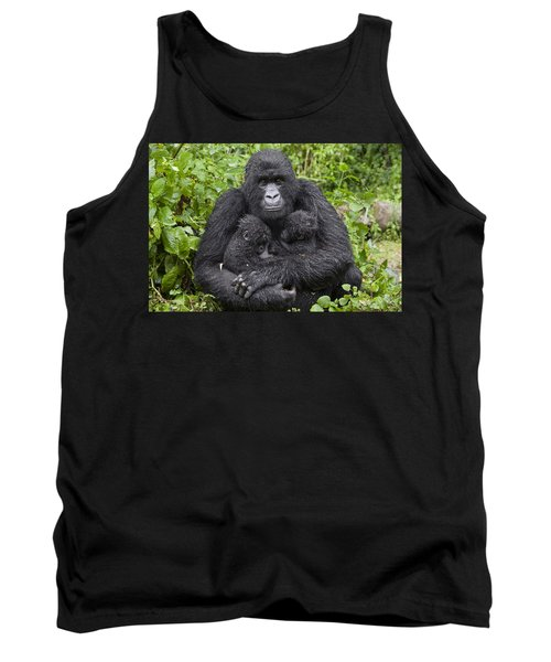 Mountain Gorilla Mother Holding 5 Month Tank Top