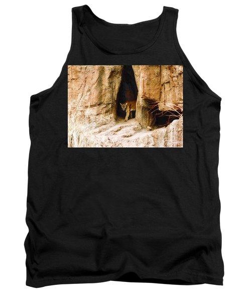 Mountain Lion In The Desert Tank Top