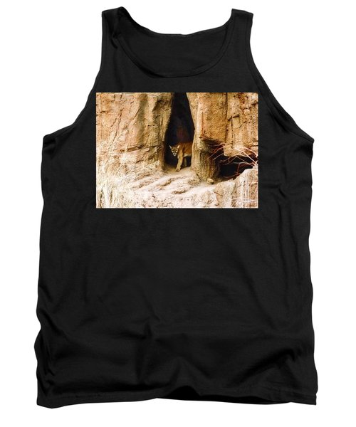 Mountain Lion In The Desert Tank Top