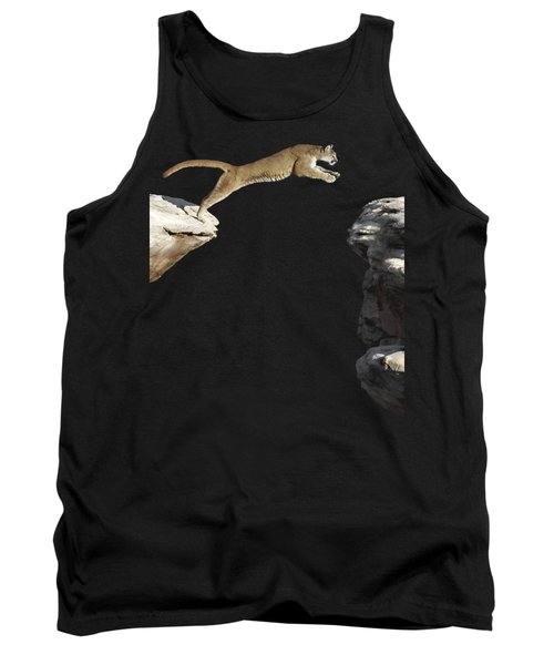 Mountain Lion Leaping Tank Top