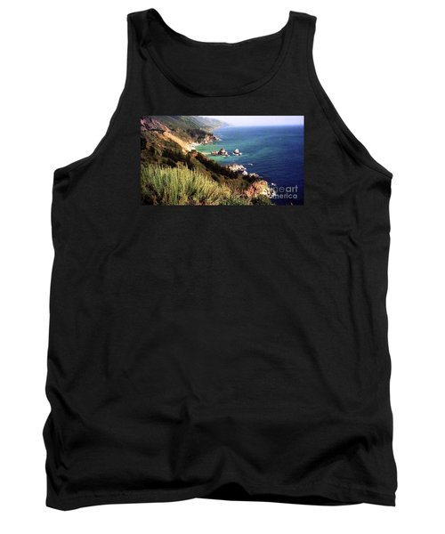 Mountain On Calif Pacific Ocean Tank Top by Ted Pollard
