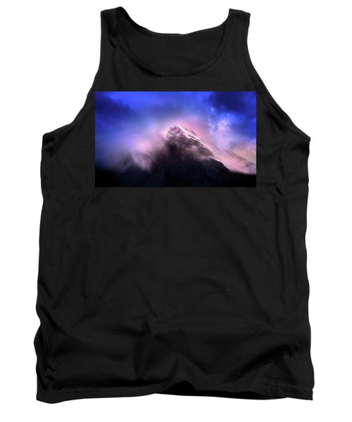 Tank Top featuring the photograph Mountain Twilight by John Poon