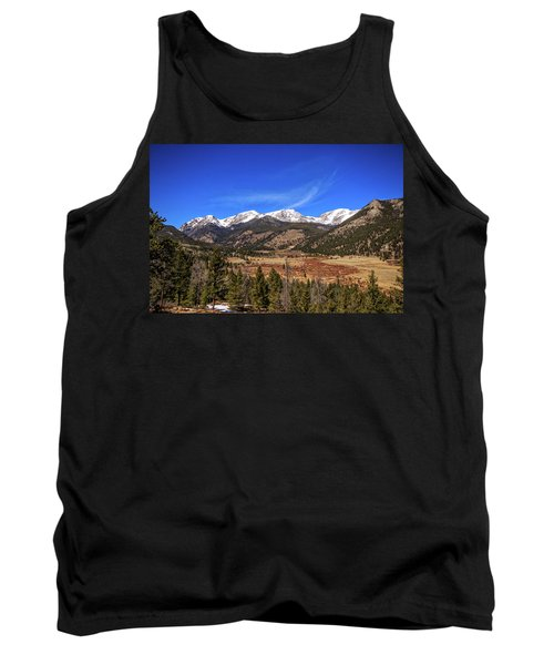 Tank Top featuring the photograph Mountain View From Fall River Road In Rocky Mountain National Pa by Peter Ciro