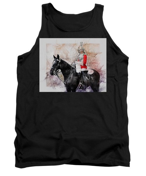 Mounted Household Cavalry Soldier On Guard Duty In Whitehall Lon Tank Top