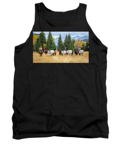 Moving The Herd Tank Top by Jack Bell