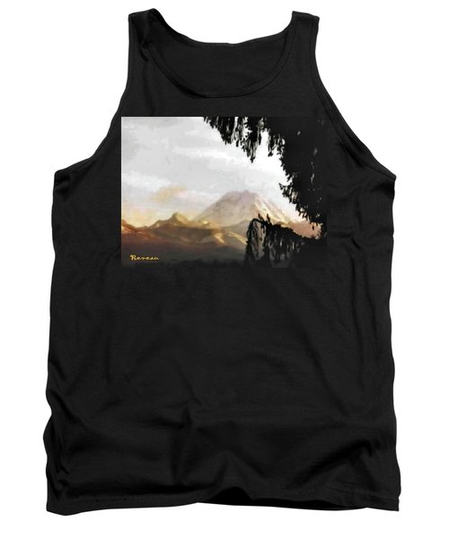 Tank Top featuring the photograph Mt. Rainier In Lace by Sadie Reneau