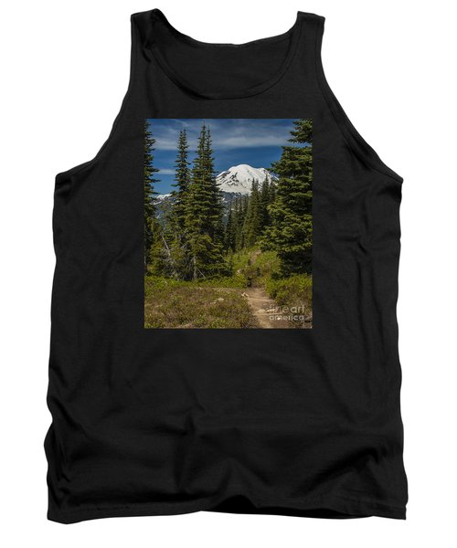 Mt. Rainier Naches Trail Portrait Tank Top by Chuck Flewelling