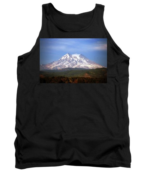 Tank Top featuring the photograph Mt. Rainier by Sumoflam Photography