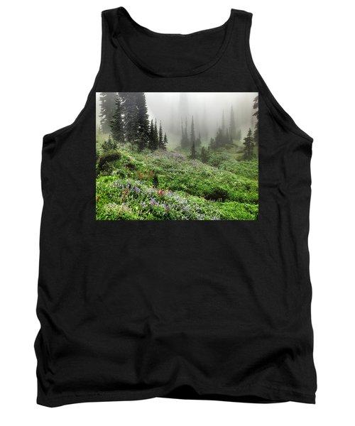 Mt Rainier Wildflowers Tank Top
