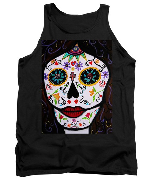 Tank Top featuring the painting Muertos by Pristine Cartera Turkus