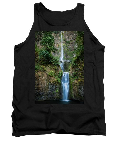 Tank Top featuring the photograph Multnomah Falls by Chris McKenna