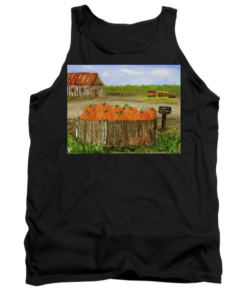 Mum And Pumpkin Harvest Tank Top