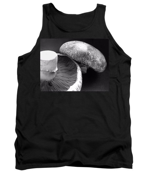Mushrooms In Black And White Tank Top
