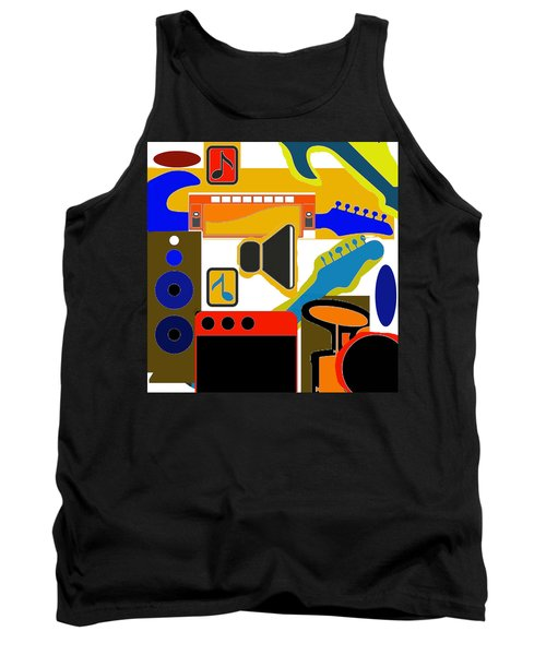 Music Collage Tank Top