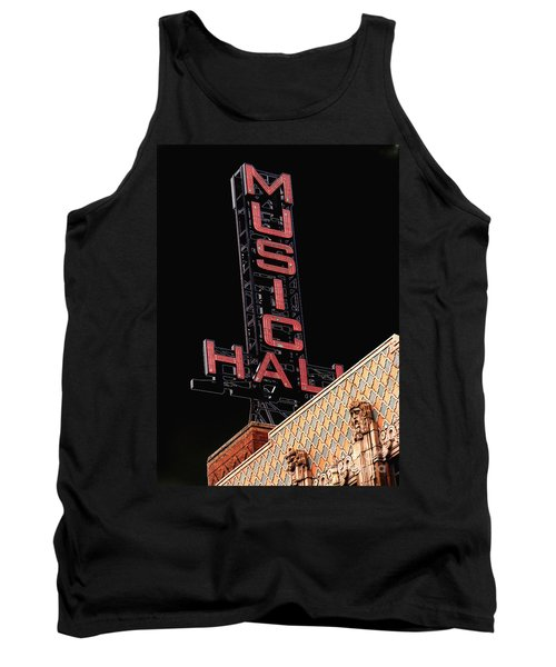 Music Hall Sign Tank Top
