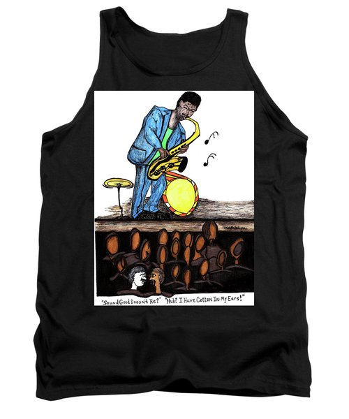 Music Man Cartoon Tank Top