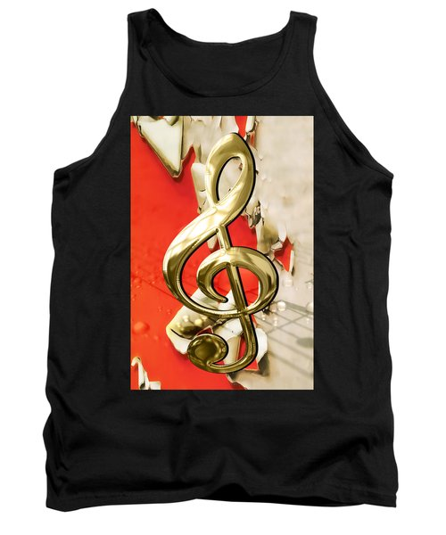 Musical Clef Musical Notes Art Tank Top
