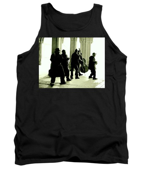 Tank Top featuring the photograph Musicians In The Park by Sandy Moulder