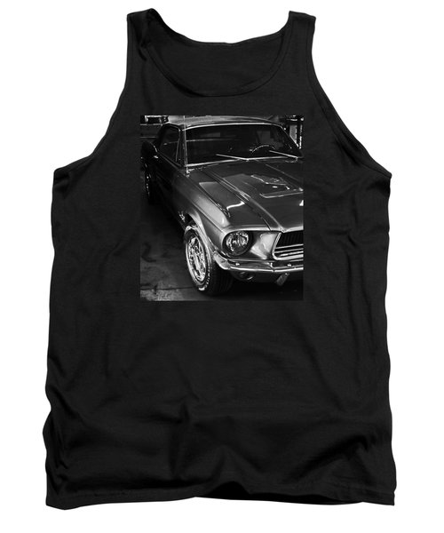 Tank Top featuring the photograph Mustang In Black And White by John Stuart Webbstock