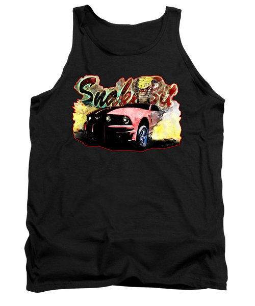 Mustanger Snakebit Burnout Hot Rod Art Tank Top