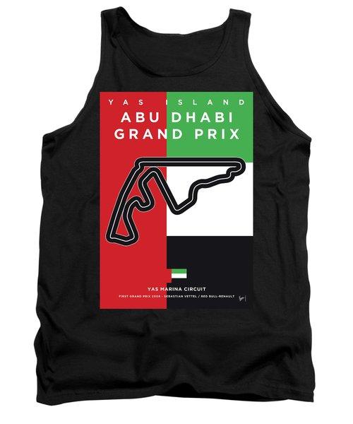 My Abu Dhabi Grand Prix Minimal Poster Tank Top