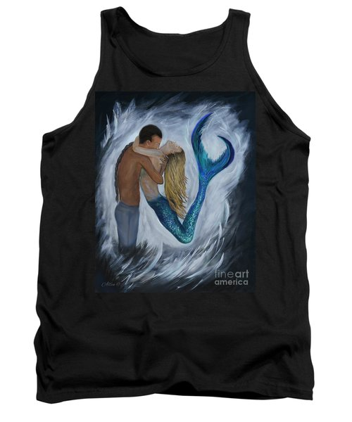 Tank Top featuring the painting My Dream Mermaid by Leslie Allen