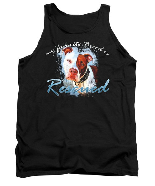 My Favorite Breed Is Rescue Watercolor 3 Tank Top