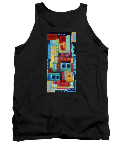 Tank Top featuring the painting My Jazz N Blues 3 by Holly Carmichael