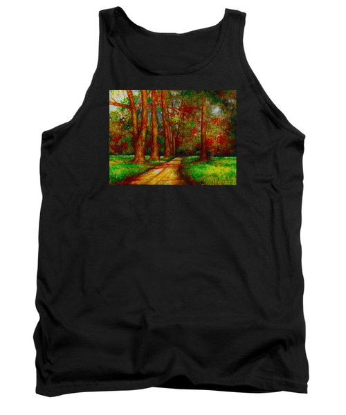 Tank Top featuring the painting My Land by Emery Franklin