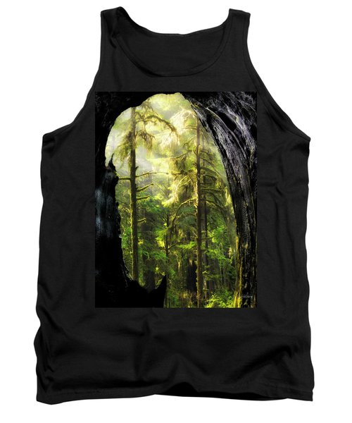Mystical Forest Opening Tank Top by Leland D Howard