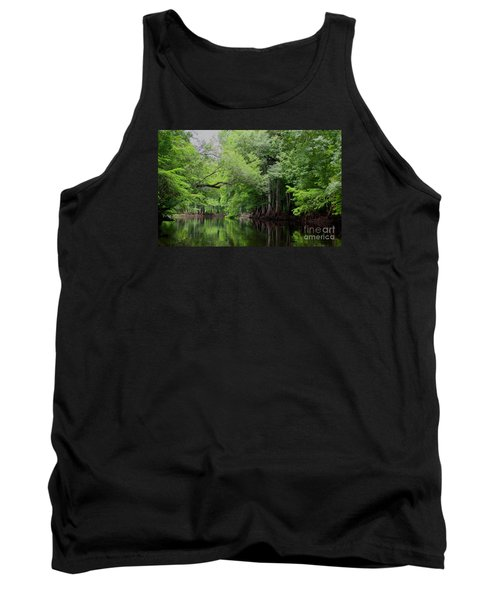 Mystical Withlacoochee River Tank Top by Barbara Bowen