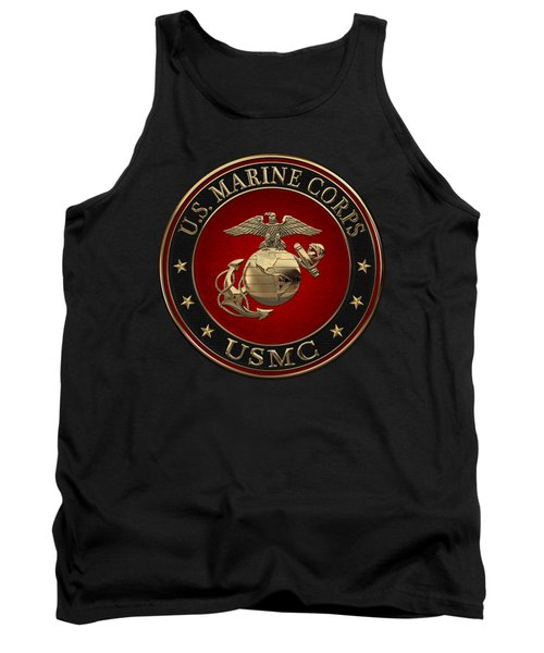 N C O And Enlisted E G A Special Edition Over Black Velvet Tank Top