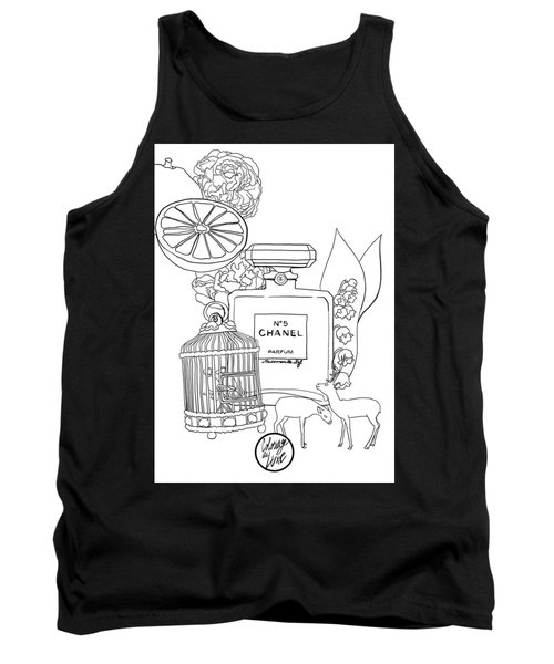 Tank Top featuring the digital art N0.5 by ReInVintaged