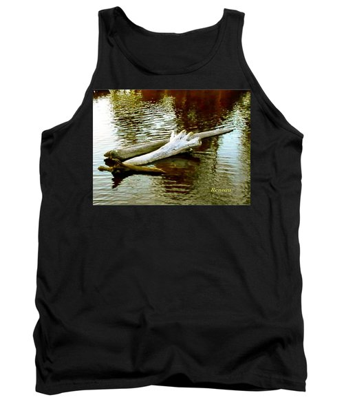 Tank Top featuring the photograph Nailbiting Driftwood by Sadie Reneau