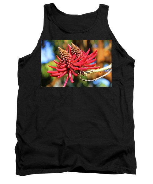 Naked Coral Tree Flower Tank Top by Mariola Bitner
