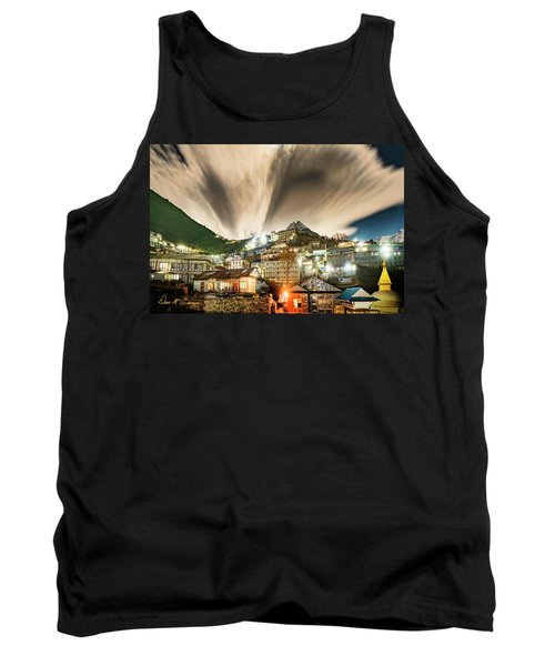 Tank Top featuring the photograph Namche Night by Dan McGeorge