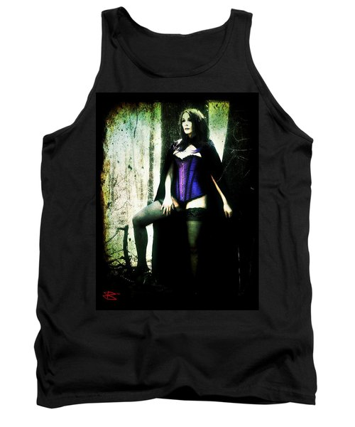 Tank Top featuring the digital art Nancy 1 by Mark Baranowski