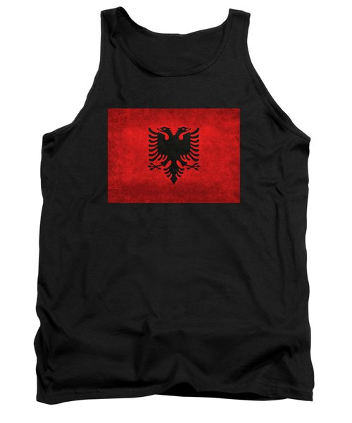 National Flag Of Albania With Distressed Vintage Treatment  Tank Top by Bruce Stanfield