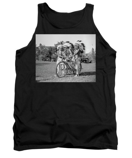 Native Americans With Bicycle Tank Top